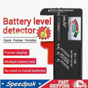 Volt Checker AAA, AA, C, D, 9V& Button Perfect Battery NEW Tester Capacity B8P5