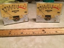 "2 Sifam UK broadcast audio console analog VU Audition Meters 2.75x2.25"" Arrakis"