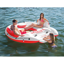 Swimming Pool Lounge Chair Float Inflatable Island Raft Floating Water Sports