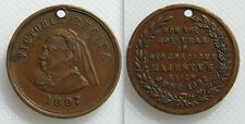 Collectable Queen Victoria Medal/ Token 1897 - 60th Year - Holed