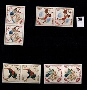 // 2X MONACO 1964 - MNH - IMPERF - OLYMPICS - TOKYO - JAPAN