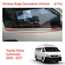 Front Windows Sill Trim Edge Chrome Trim For Toyota Hiace Commuter Van 2005 - 17