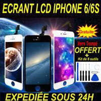 ECRAN LCD VITRE TACTILE SUR CHASSIS POUR IPHONE 6/6S NOIR BLANC + OUTIL
