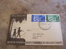 1949 New Zealand Cover / FDC - Health Stamps / Nurse & Child