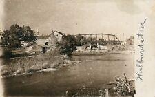 Real Photo Bridge  Hubbardston MI Michigan Mich  Postcard