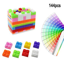 144pcs Kids DIY Building Blocks Multicolour Construction 3D Puzzle Bricks Toy