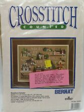 New listing 1989 Bernat Counted Cross Stitch Neighbors Sampler Kit #25000 New by Emie Bishop