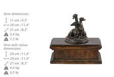 Whippet, Kleiner Englischer Windhund, exclusive Urne, Kalte Bronze, ArtDog, AT