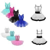 Kid Girl Ballet Dress Tutu Skirt Gym Leotard Lyrical Dancewear Ballerina Costume