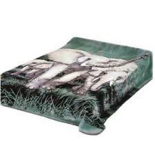 Solaron Korean Blanket throw thick Mink Plush Elephant Animal King size new
