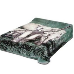 4 Estaciones Durable Korean Blanket from Solaron Black Leopard King Size