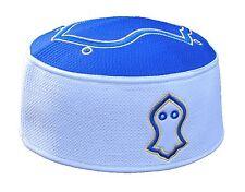 Royal Blue White Gold-tone Embroidered Sandal Emblem Kufi Crown Cap Na'l Shareef