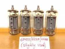 4x 6P45S (EL509, 6KG6, ~EL519, ~6P42S) Svetlana (SLIGHTLY USED, 9 pins)