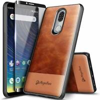 For COOLPAD LEGACY Case Shockproof Leather Phone Cover +Tempered Glass Protector