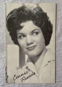 Vintage Arcade Exhibit Card - Actress Movie Star Connie Francis