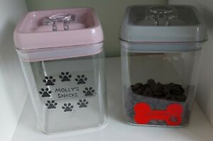 Dog/Pet/Cat Treat Container~Snack Jar~Personalised~Smart Seal~Air Tight