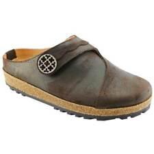 Haflinger 815730 Women's Adventure Leather Shoes Clogs Brown Size 38 EU/ 7 US