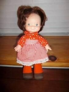 "Fisher Price ~ Vintage 1973 Vinyl 13"" Lapsitter Doll Original Clothing"