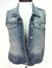 GAP Denim Vest 1969 Light Blue Distressed Jacket Top 54023 Boho Women's S $69