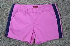 Merona Women's new Pink Tuxedo Ribbon Stripe Cotton Shorts size 14