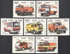 Kampuchéa 1987 fuego motores 7 V Set ref:b8345