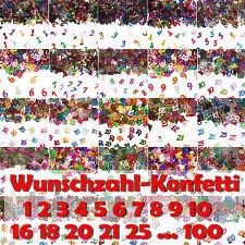 Zahlen Konfetti für Geburtstag Kindergeburtstag - Zahlenkonfetti Tischdeko Deko
