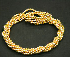Twist A Beads Genuine 1980's Original Necklace 32-35 inch strands-GOLD BEADS