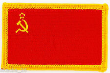 PATCH ECUSSON BRODE DRAPEAU RUSSIE URSS CCCP INSIGNE THERMOCOLLANT NEUF FLAG