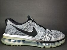 Nike Air Max Flyknit 360 Mens Size 9.5 Running Shoes White Black Oreo 620469 102