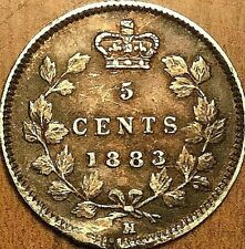 1883H CANADA SILVER 5 CENTS COIN