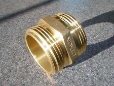 Dmh15f15f Brass Hex Nipple Fire Hose Adapter 1 12 Double Male Nst Dixon