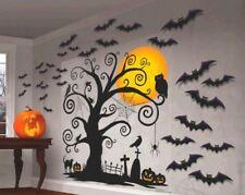 Cemetery Tree Bat Mega Value Scene Setters Wall Decorating Kit