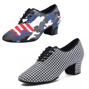 Jazz Dance Shoes For Women Split Sole Ballroom Latin Modern Dance Shoes 5CM Heel