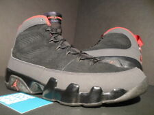reputable site f0093 744db 2010 NIKE AIR JORDAN IX 9 RETRO BLACK RED CHARCOAL GREY BIN 23 302370-005