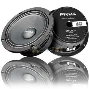 "2 PRV Audio 6"" Midrange Loudspeaker 8 Ohm 200 Watts Max Alto Series 6MR200A Pack"