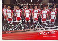 CYCLISME carte  équipe cycliste PRICE cycling team 2010