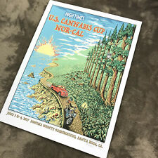 High Times Cannabis Cup 2017 Tan Maiden Wall Poster Lithograph Numbered Beckett