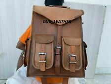 Shoulder Rucksack Bag Men's Genuine Soft Leather New Messenger+Backpack Laptop