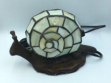 Vintage Victorian Lampe Escargot Vitraux Snail Glass Lamp Tiffany Style