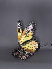 Lampe Leuchte Tischlampe Tischleuchte im Tiffany-Stil Schmetterling gelb (5764)