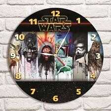 Star Wars Color design vinyl record wall clock home art shop office collector 3
