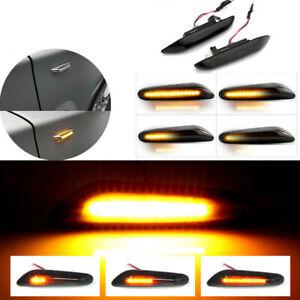 Dynamic Smoke LED Side Marker Turn Signal Lights For BMW E90 E83 E92 E82 E46 E60