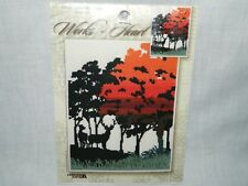 Autumn Silhouette WORKS OF HEART Fall Scene Counted Cross Stitch kit 114500