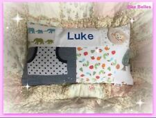 CUSTOM HANDMADE MEMORY/KEEPSAKE PATCHWORK CUSHION AND COVER