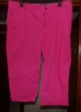 WOMANS BASIC EDITIONS 20W PINK PANTS 21 INCH INSEAM