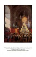 Hochzeit Marie Luise & Napoleon I. Kunstdruck 1936 von Johann Baptist Hoechle +