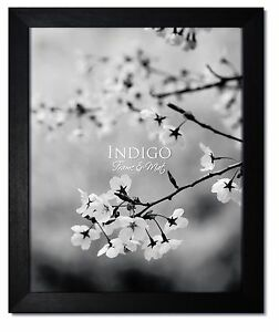 One 14x18 Black Hardwood Picture Frame with Glass