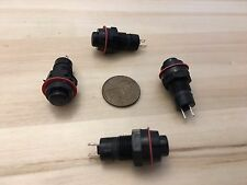 4 Pieces Black latching 10mm hole Self-locking Push Button Switch ON/OFF C31