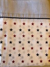 Tommy Hilfiger Red Blue Stars and Stripes Union Twin Flat Sheet