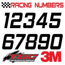 Racing Numbers Vinyl Decals Stickers Boat Car Bmx Bike Off Road Sprint Quad Hem